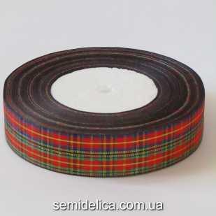 Лента шотландка 2,5 см, №3
