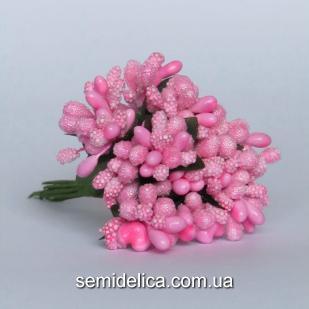 Тычинки на проволоке Незабудка, розовый яркий