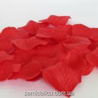 Лепестки розы, красный