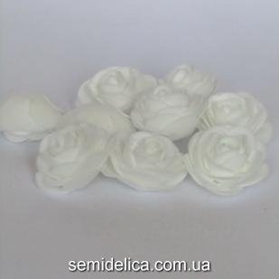 Головка розы латексная 4 см, белый