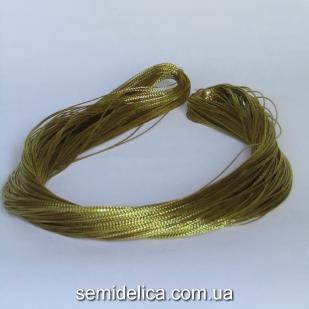Шнур люрексовый 1 мм, золото