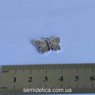 "Подвеска ""Бабочка"", металл 1,9х1,4 см"