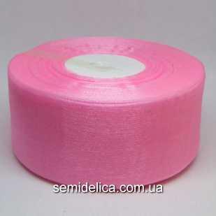 Лента органза 4,0 см, розовый светлый