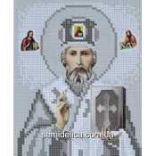 """Схема для вышивки А5 """"Святой Николай Чудотворец"""" (серебро)"""