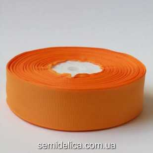 Лента репсовая 2,5 см, оранжевый