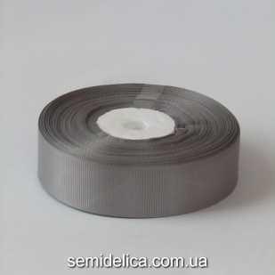 Лента репсовая 2,5 см, серый