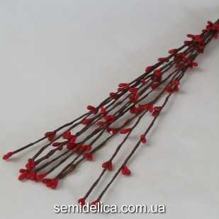 Гибкая веточка с почками 40см, красный