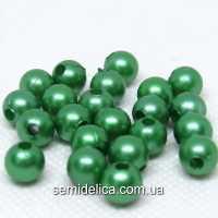 Бусины Жемчуг 8 мм, зеленый