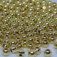 Бусины Жемчуг 6 мм, золото