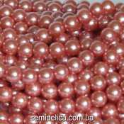 Бусины Жемчуг 10 мм, розовый с блеском