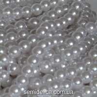 Бусины Жемчуг 10 мм, белый с блеском