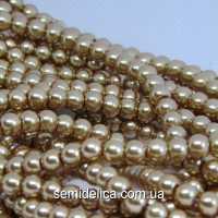 Бусины жемчуг 6 мм стеклянные, светло-коричневый