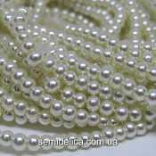 Бусины жемчуг 3 мм стеклянные, кремовый