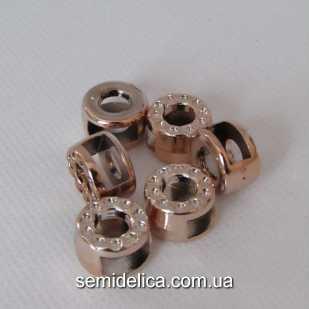 Бусина, разделитель d=14 мм, золото