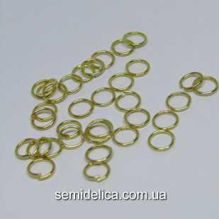 Соединительные колечки одинарные 6 мм, золото