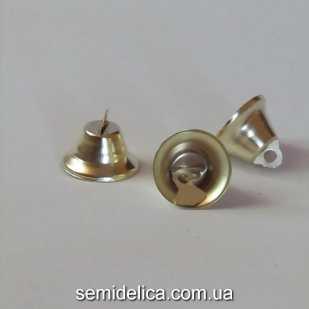 Колокольчик металлический 2,1 см, золотой