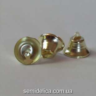 Колокольчик металлический 3,0 см, золотой