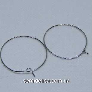 Швензы Кольца французская застежка 30 мм, серебро