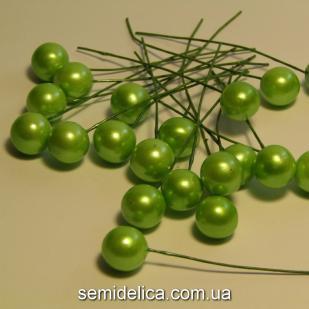 Калина россыпью 12мм, зеленый светлый