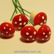 Грибочек-мухоморчик 2 см