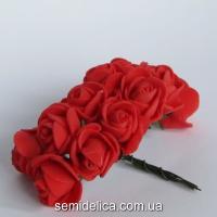 Роза из латекса 2 см, красный