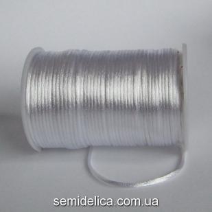 Шнур корсетный 3мм, белый