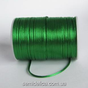 Шнур корсетный 3мм, зеленый