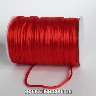 Шнур корсетный 3мм, красный
