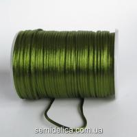Шнур корсетный 3мм, оливковый