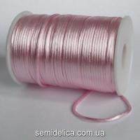 Шнур корсетный 3мм, розовый