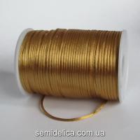 Шнур корсетный 3мм, коричневый светлый