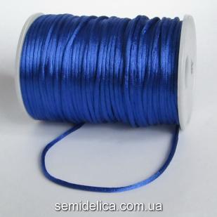 Шнур корсетный 3мм, синий
