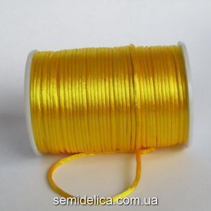 Шнур корсетный 3мм, желтый темный