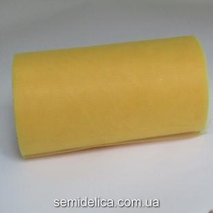 Фатин вуаль мягкая 15 см, желтый