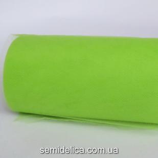 Фатин вуаль мягкая 15 см, салатовый