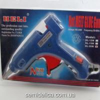 Пистолет клеевой Htli 7мм 20W с кнопкой HL-20W