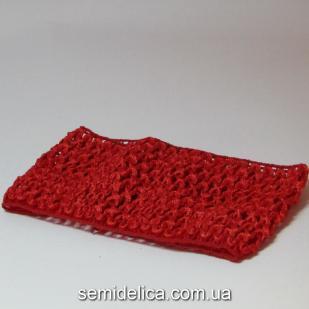 Повязка широкая, 7 см, красный