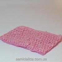 Повязка широкая, 7 см, розовый