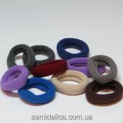 Резинка велюр 2,7 см, цветной микс (синий-серый-бордо)