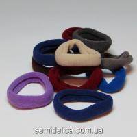Резинки велюр 4,0 см, цветной микс (синий-серый-бордо)