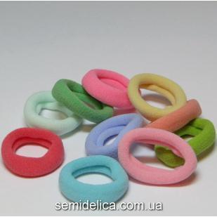 Резинка велюр 2,7 см, цветной микс (пастельные тона)