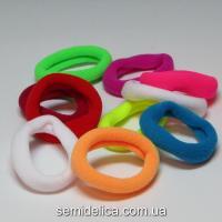 Резинка велюр 3,2 см, цветной микс
