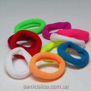 Резинки велюр 4,0 см, цветной микс