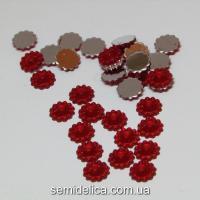 Серединка цветочек 8мм, красный