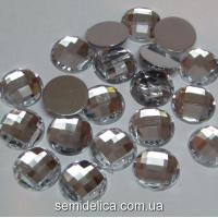 Стразы граненые, 10мм серебро