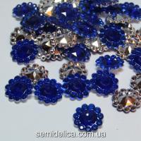 Серединка цветочек 11мм, синий