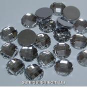 Стразы граненые, 12мм серебро