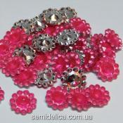 Серединка цветочек 11мм, розовый яркий