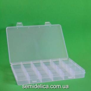 Органайзер пластиковый 19,4х13,2х2,2 см, 24 ячейки
