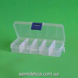 Органайзер пластиковый 12,5х6,5х2,2 см , 10 ячеек